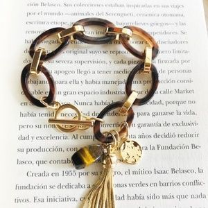 NEW 3 FOR 35 ACRYLIC TORTOISE GOLD BRACELET